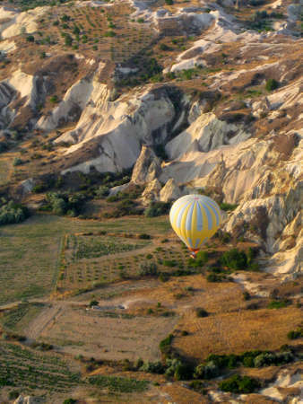 Hot air balloon in valley at Cappadocia Turkey photo