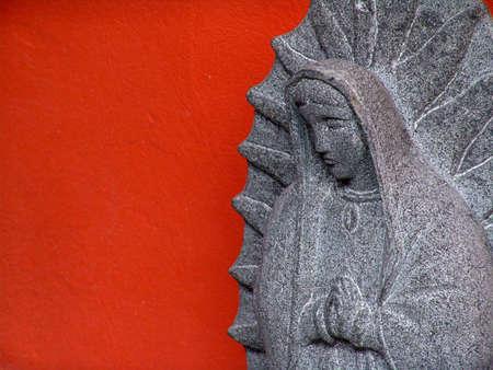 catholicism: Virgen de Guadalupe stone Figurine