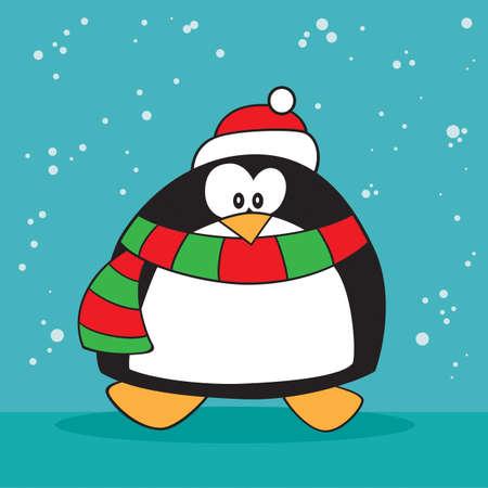 Holiday christmas penguin weird Vector