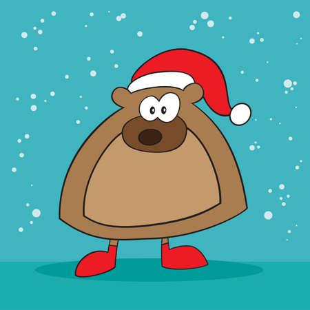 holiday: Holiday bear weird Illustration