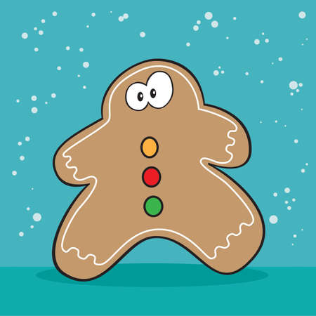 holiday: Holiday Gingerbread cookie weird Illustration
