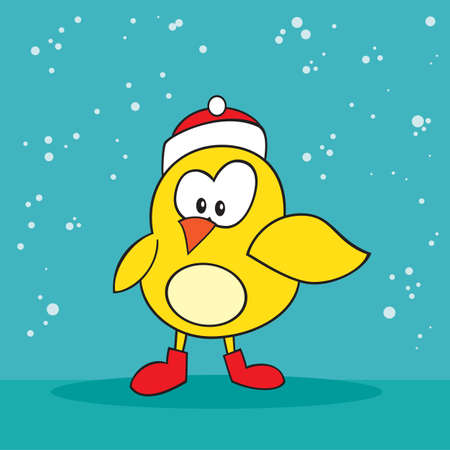 holiday: Christmas holiday silly little yellow bird