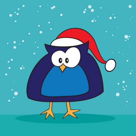 holiday: Christmas holiday silly owl
