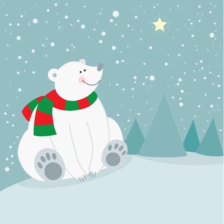 holiday: Cute christmas holiday polar bear