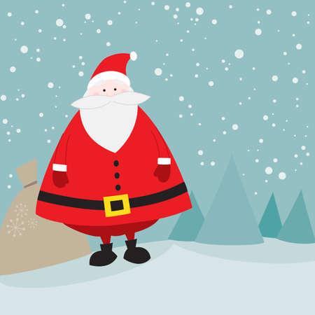 toy sack: Santa lindo con bolsa de regalo