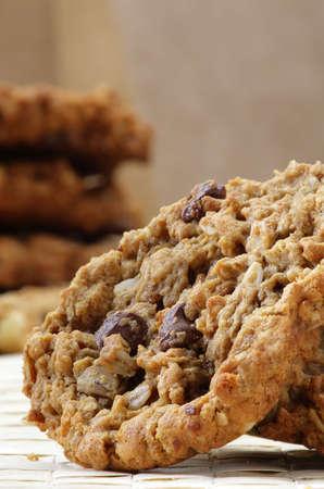 macadamia: Brisures de chocolat, fra�ches cuites macadamia nut cookie.