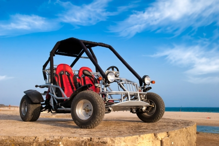 buggy: Vehicle 4x4 without driver