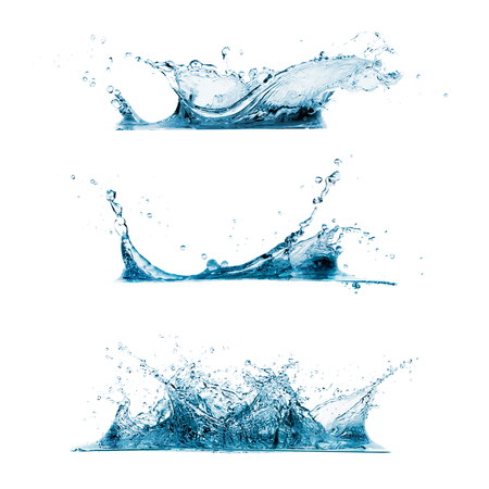 fresh water splash: Set of three water splashes Stock Photo