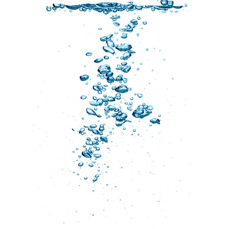 Close-up van zuurstof bubbels op een witte achtergrond Stockfoto