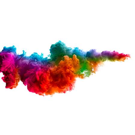Tinte in Wasser isoliert auf weißem Hintergrund. Farben des Regenbogens Standard-Bild - 29086151