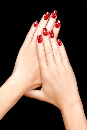 Nail Art Trendy Crackle Nail Polish In Reds Manicure And Nail