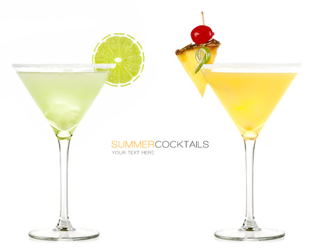Summer cocktails Frozen drink isolated on white background.