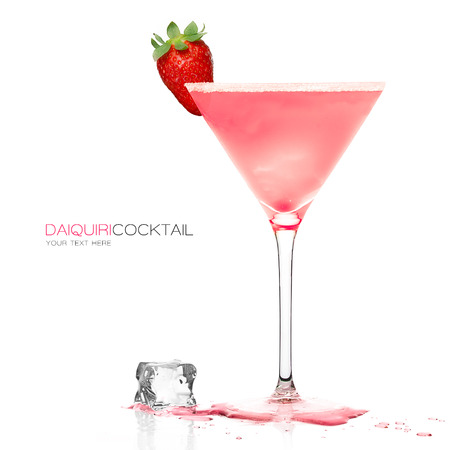 Daiquiri frozen cocktail in a stylish martini glass garnished