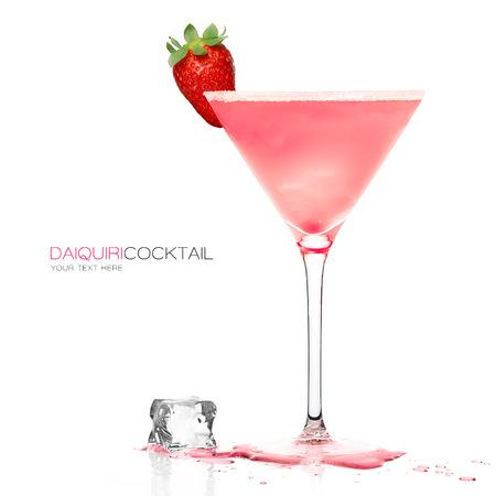 cocktail glasses: Daiquiri frozen cocktail in a stylish martini glass garnished