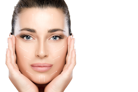 Anti aging treatment and plastic surgery concept.