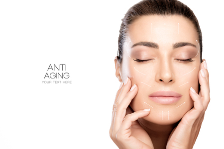 Anti aging treatment and plastic surgery concept. Zdjęcie Seryjne