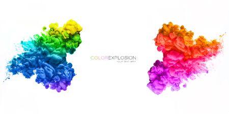 Rainbow of colors. Colors explosion Zdjęcie Seryjne