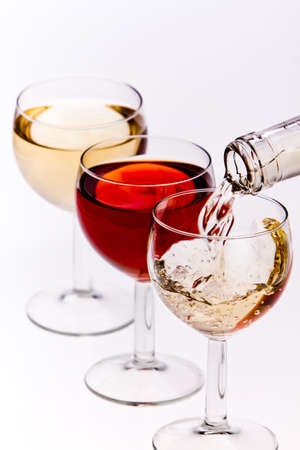 bootle: Pouring wine Stock Photo