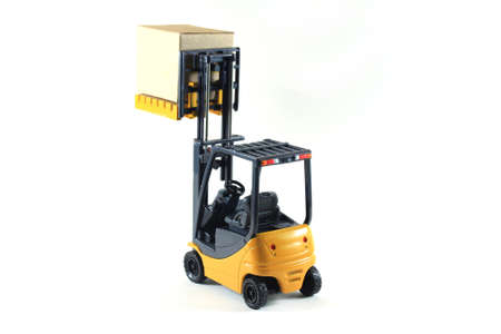 pallet truck: Electrical Forklift truck Stock Photo