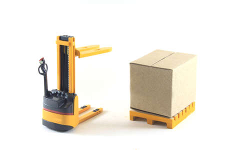 forklift: Electrical Forklift truck Stock Photo