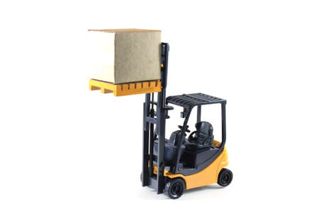 fork lifts trucks: Electrical Forklift truck Stock Photo