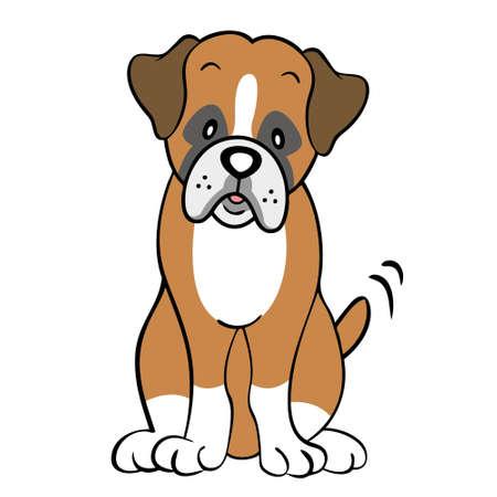 boksör: Boxer köpek izole