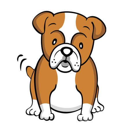 Bulldog isolated Vector
