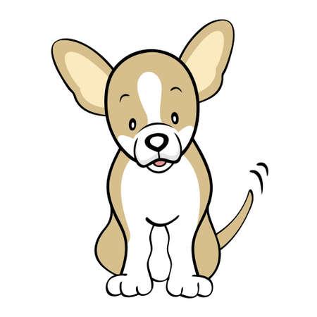 cartoon chihuahua: Fawn Chihuahua isolated