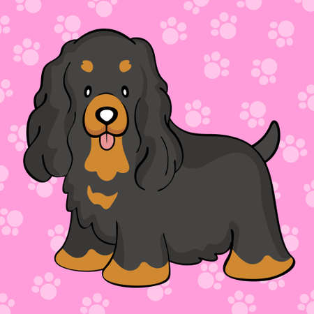 cocker: Black tan cocker spaniel