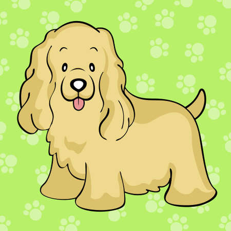 cocker: Cocker spaniel buff Illustration