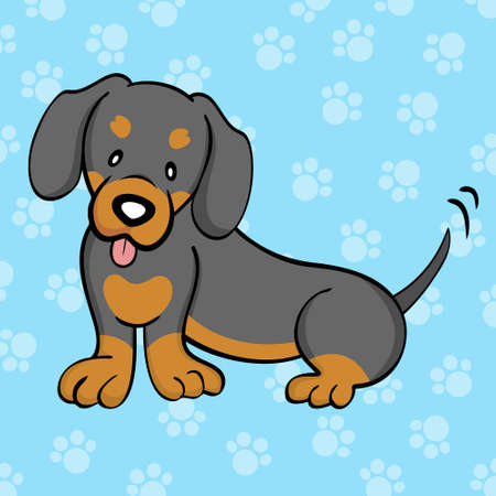 Black and Tan Dachshund Vector
