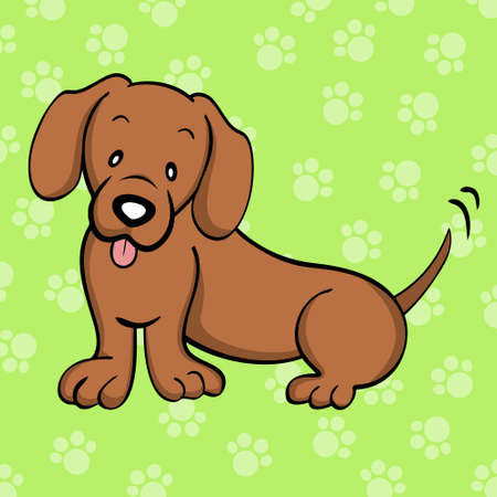 Red Dachshund Vector