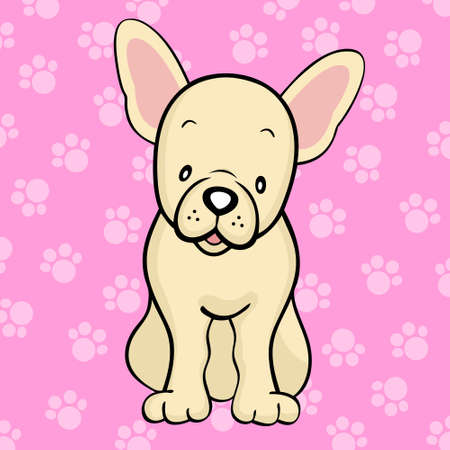 Fawn French Bulldog Vector