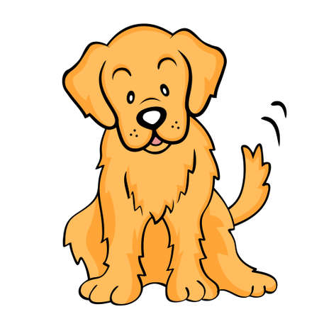 caricatura: Aislados Golden Retriever