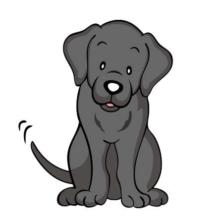 Black labrador dog isolated Vector
