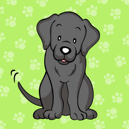 Black labrador dog Vector