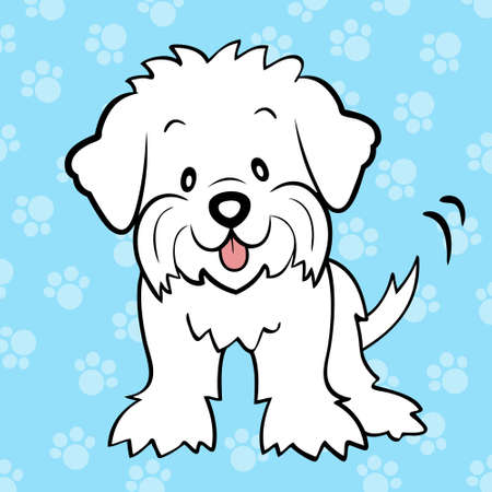 Puppy cut maltese Vector