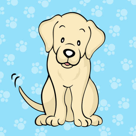 Yellow labrador dog Vector