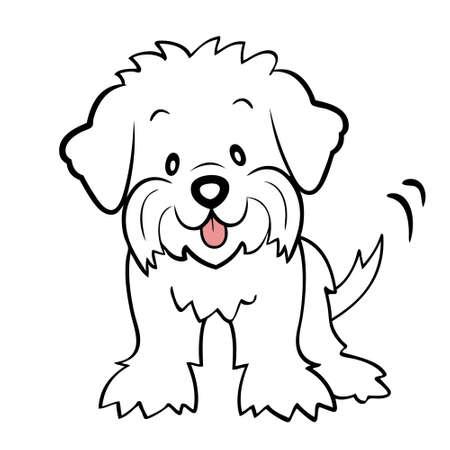 Puppy gesneden maltese geïsoleerde Stock Illustratie