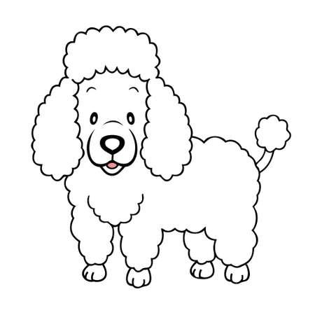 Dibujos de perros french poodle para colorear - Imagui