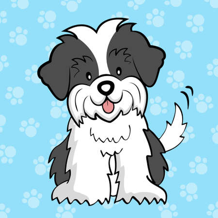 shih: Puppy cut Shih tzu Illustration