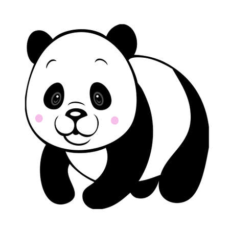 Chubby panda isolated Vector
