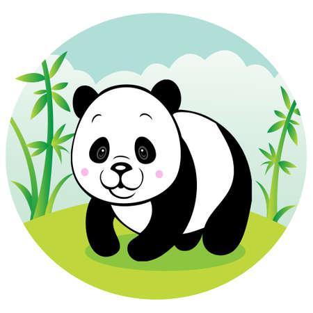 Chubby panda Vector
