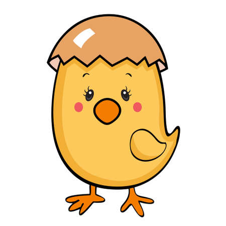 Cute baby chick isolated Stock Vector - 23771441