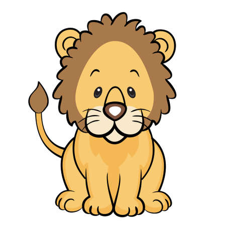 Friendly lion isolated Vector
