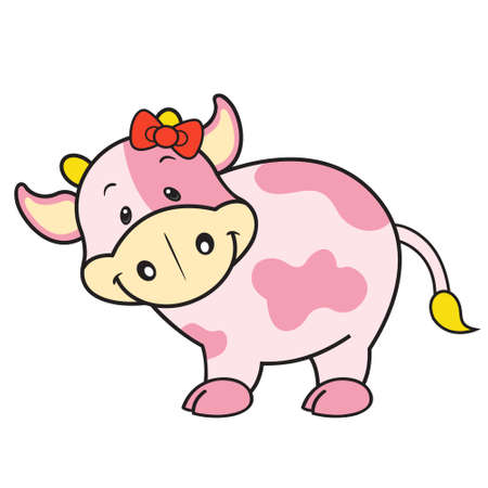 Strawberry cow isolated Vector