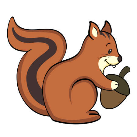 Happy squirrel Isolated Vector
