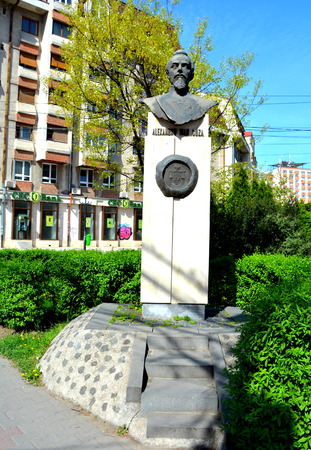 Statue of Alexabru Ioan Cuza in Cluj-Napoca