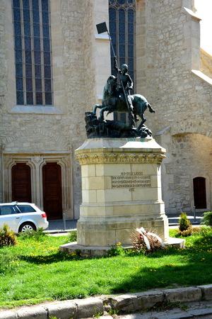 Statue in Cluj-Napoca, Transylvania Editorial