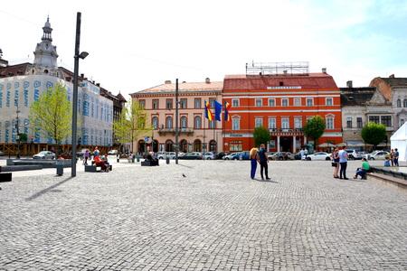 Market square in Cluj-Napoca Editorial